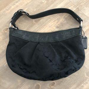 Coach Black canvas soho hobo purse 13740